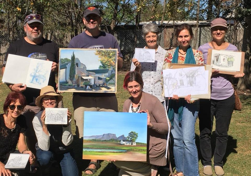 Vergenoegd Wine Estate Plein Air Outing With Urban Sketchers