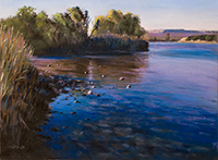 "Painting Progression Video- ""Orange River Blues"""