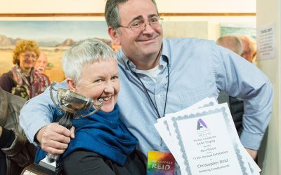 Chris Awarded Best Pastel, Highly Commended Pastel, & Highly Commended Acrylic Awards At SASA Exhibition
