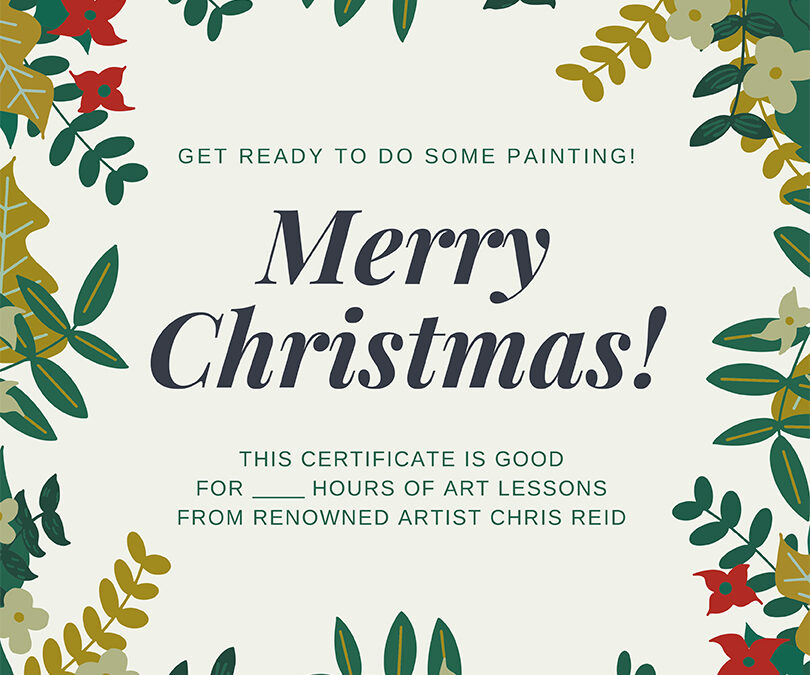 ReidsArt Gift Certificates are Here!
